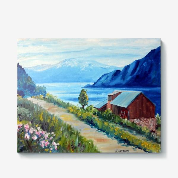 Холст «Норвежские истории. Фьорд.»