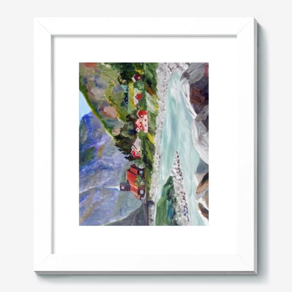 Картина «Норвежские истории. Река.»