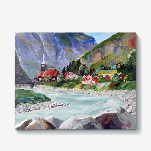 Холст «Норвежские истории. Река.»