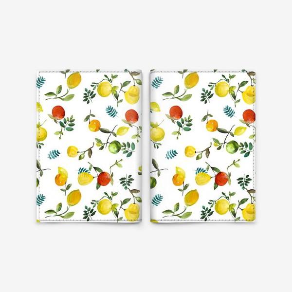 Обложка для паспорта «Яблоки-лимоны»