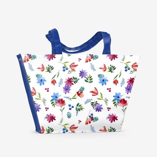 Пляжная сумка «Цветочная нежность»