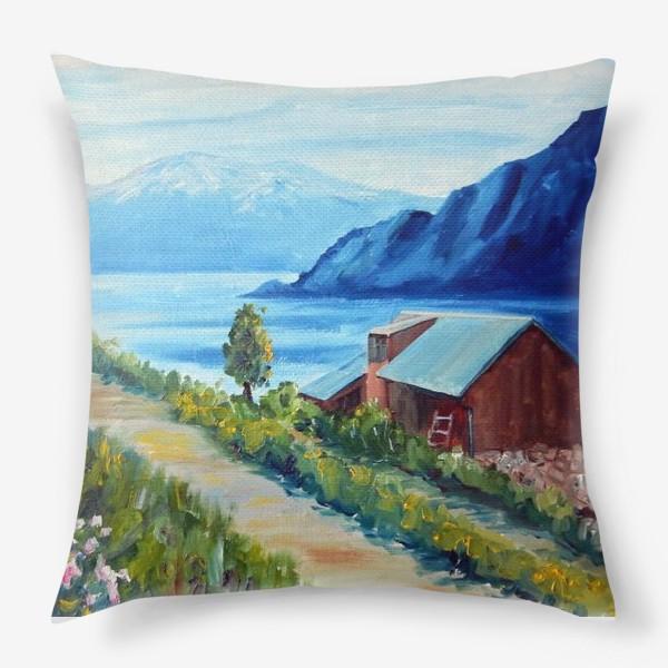 Подушка «Норвежские истории. Фьорд.»