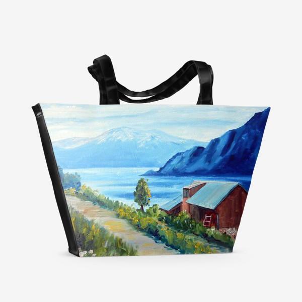 Пляжная сумка «Норвежские истории. Фьорд.»