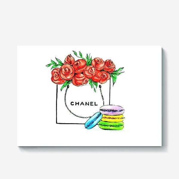 Холст «Sweet gift chanel . Шанель.»