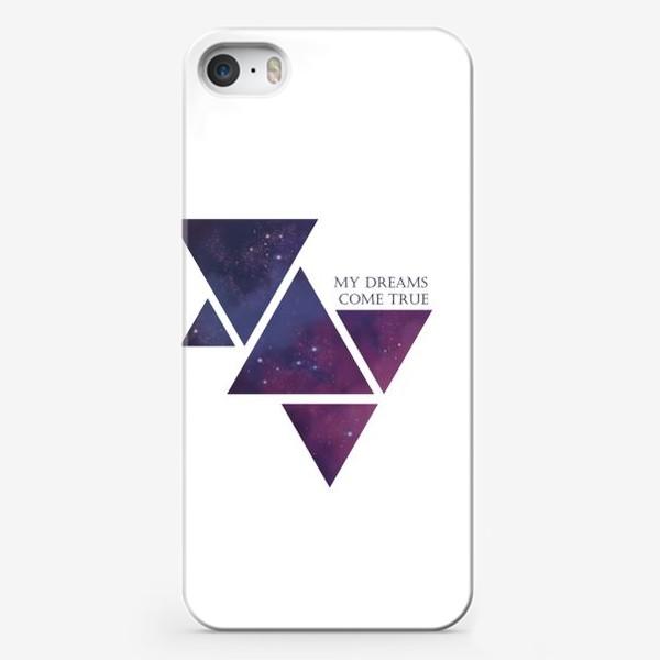 Чехол iPhone «Геометрия. Треугольник. Космос. Мечты»