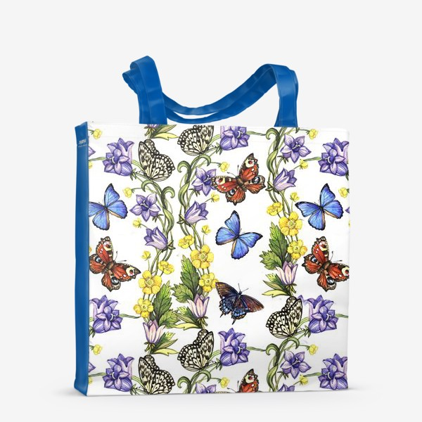 Сумка-шоппер «Летний цветочный паттерн»