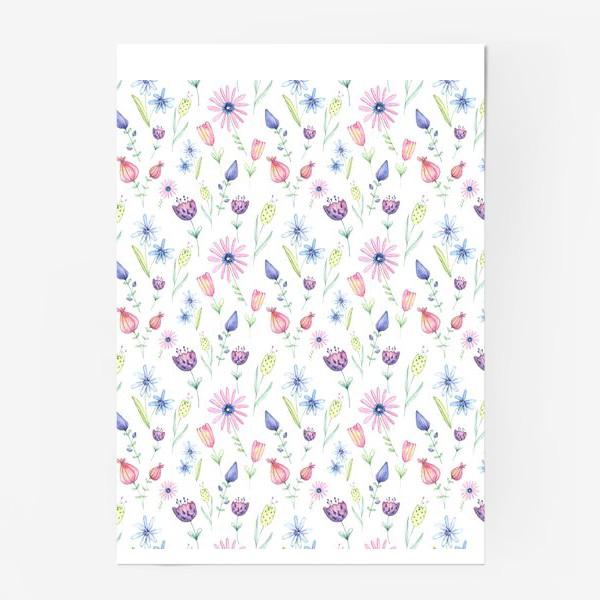 Постер «Цветочный ковер»