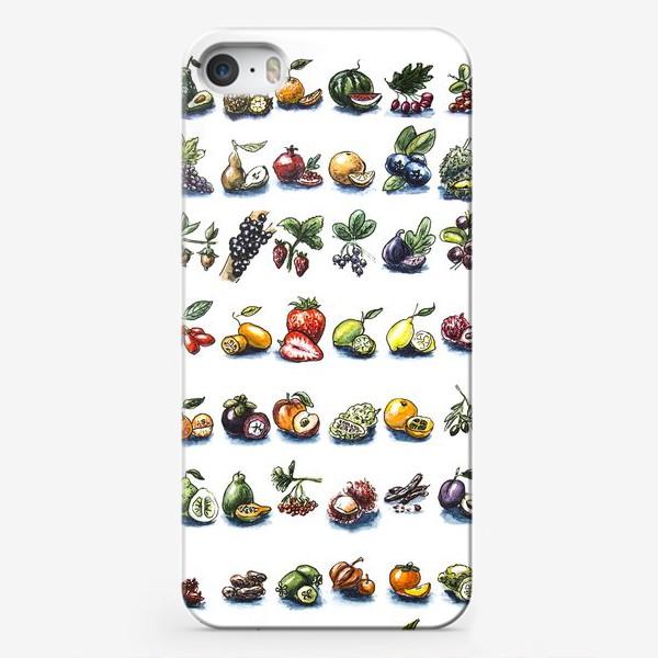 Чехол iPhone «фруктовый алфавит»