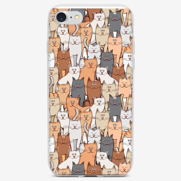 Чехол iPhone «Коты»