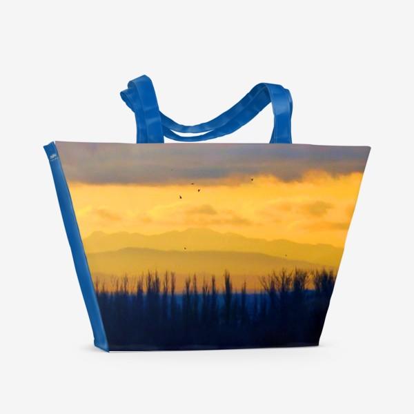 Пляжная сумка «Сиреневый вечер»