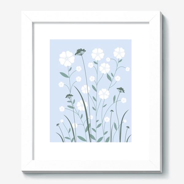Картина «Белые цветы»