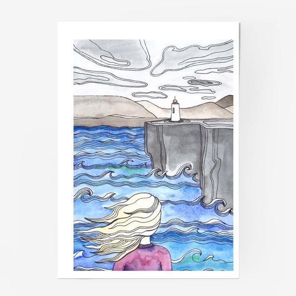 Постер «Девушка и маяк»