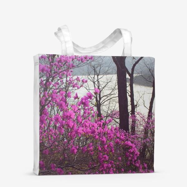 Сумка-шоппер «Багульник. Цветы. Море.»