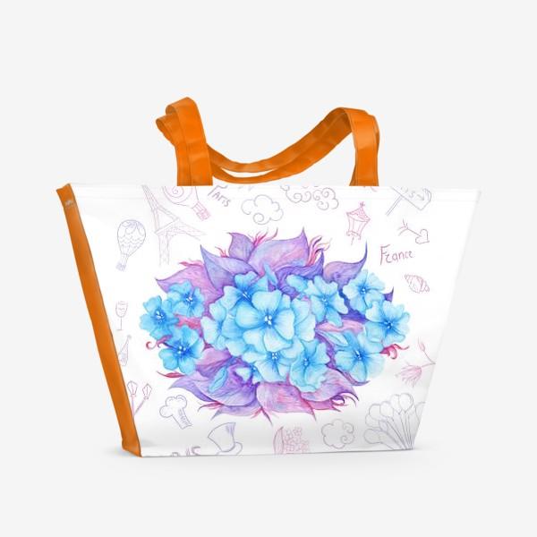 Пляжная сумка «Весна в Париже»