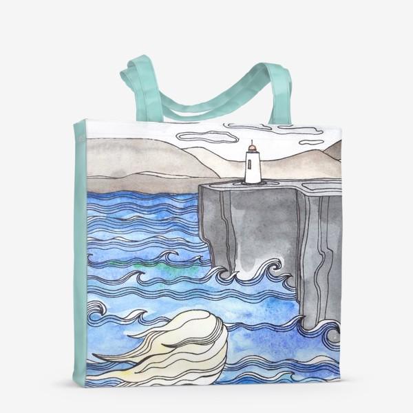 Сумка-шоппер «Девушка и маяк»