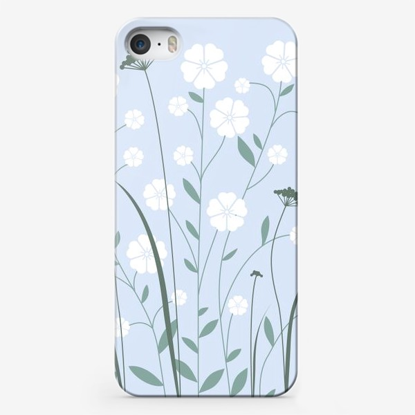 Чехол iPhone «Белые цветы»