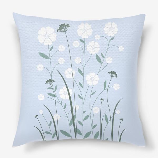 Подушка «Белые цветы»