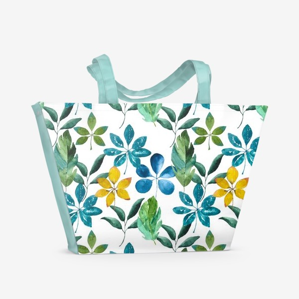 Пляжная сумка «Тропики (паттерн 2)»