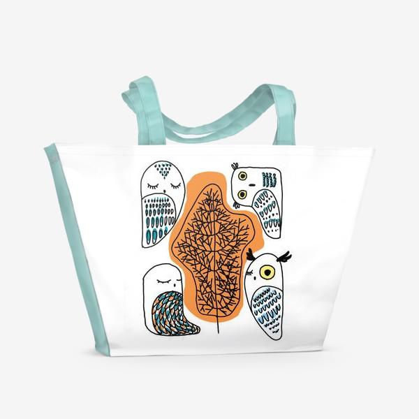 Пляжная сумка «Сова в лесу»