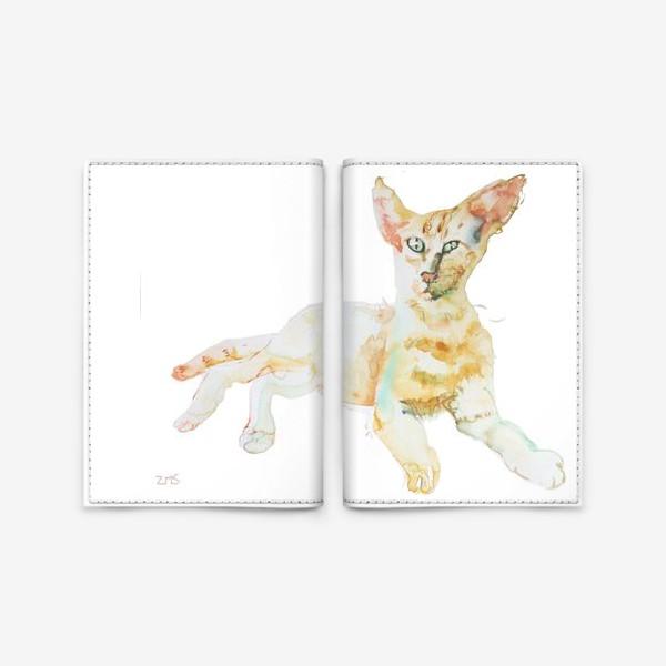 Обложка для паспорта «Совершенно Летний Котик»