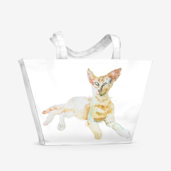 Пляжная сумка «Совершенно Летний Котик»