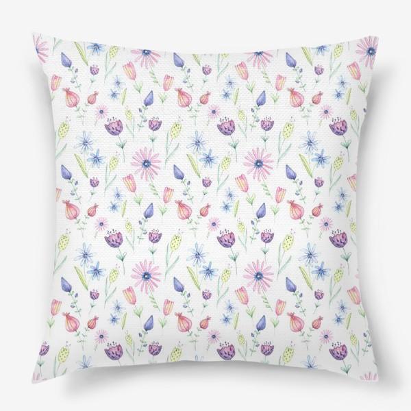 Подушка «Цветочный ковер»