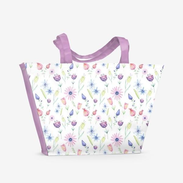 Пляжная сумка «Цветочный ковер»