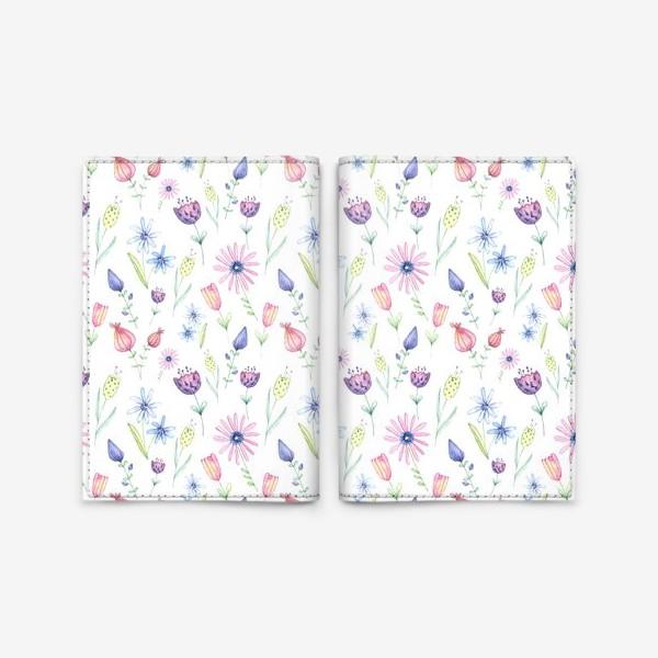 Обложка для паспорта «Цветочный ковер»