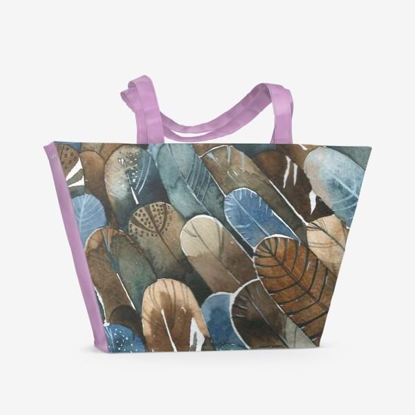 Пляжная сумка «Перья паттерн»
