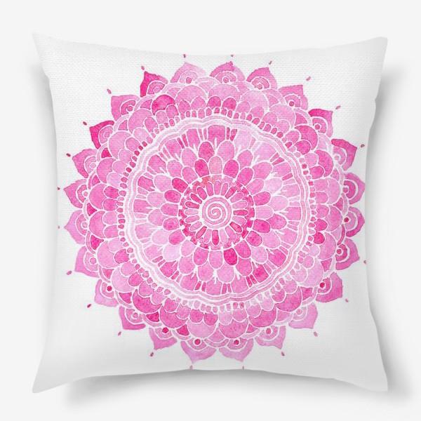 Подушка «Мандала. Восточные цветы»