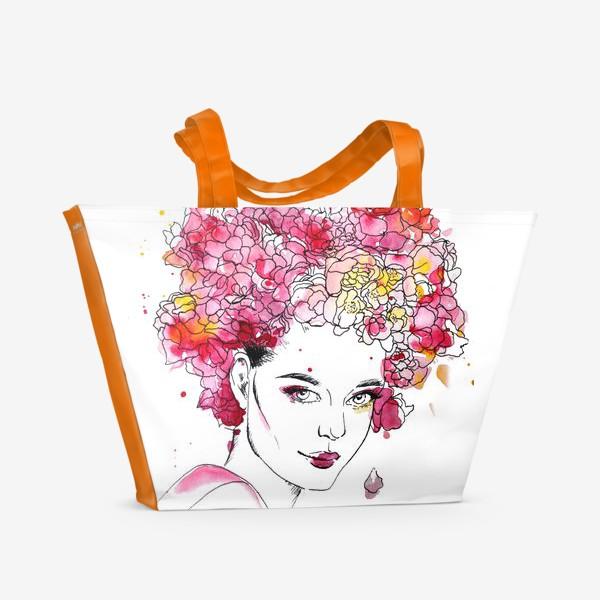 Пляжная сумка «Цветение»