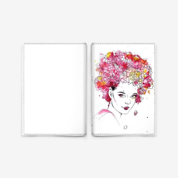 Обложка для паспорта «Цветение»