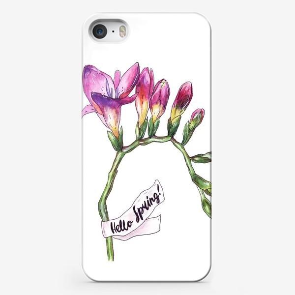 Чехол iPhone «фрезия»