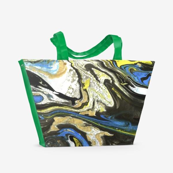 Пляжная сумка «Красочные разводы. Мрамор в ярких цветах.»