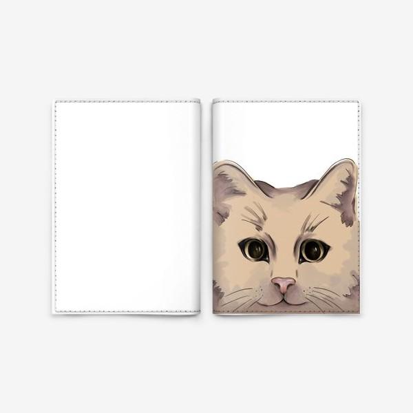 Обложка для паспорта «Милый кот. Глаза»