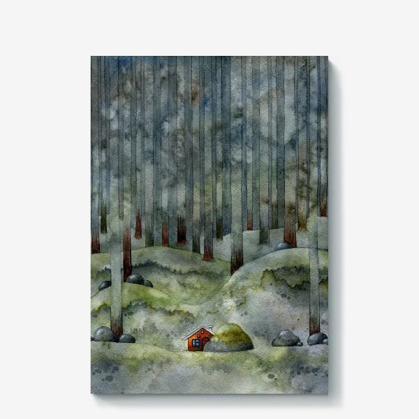 Холст «На лесной окраине»