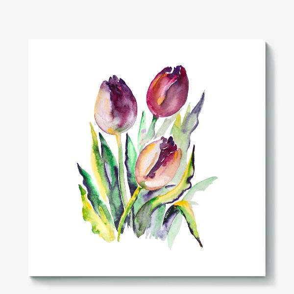 Холст «Тюльпаны красные»