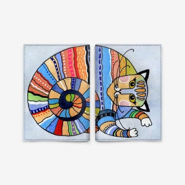 Обложка для паспорта «Кот - улитка»