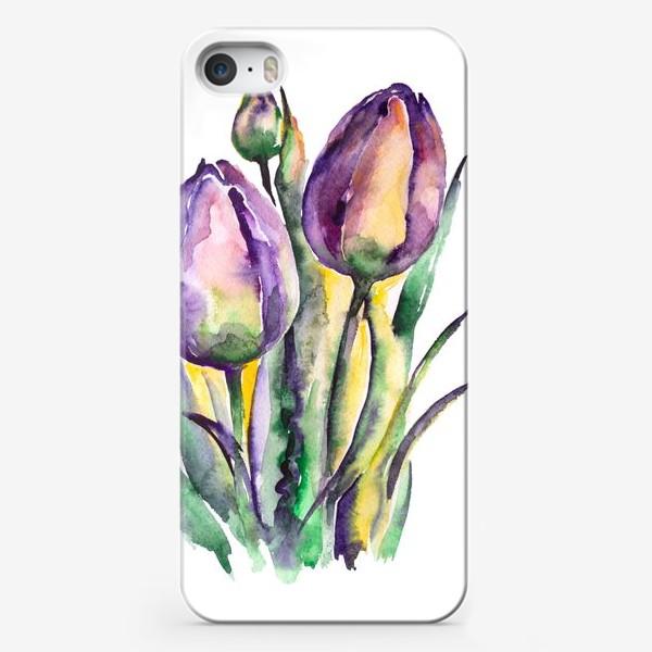 Чехол iPhone «Тюльпаны фиолетовые»