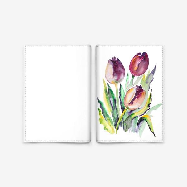 Обложка для паспорта «Тюльпаны красные»