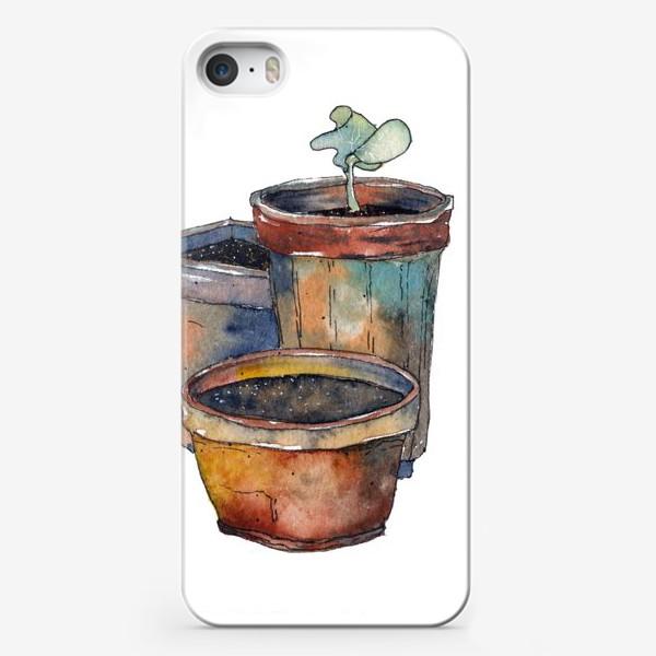 Чехол iPhone «Зеленый росток»