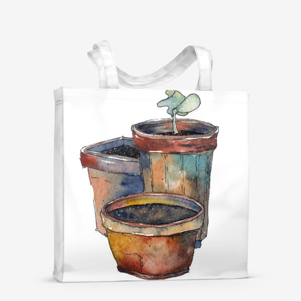 Сумка-шоппер «Зеленый росток»