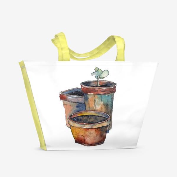 Пляжная сумка «Зеленый росток»
