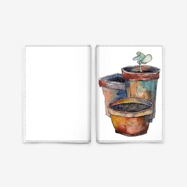 Обложка для паспорта «Зеленый росток»