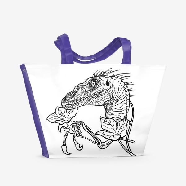Пляжная сумка «Велоцираптор»