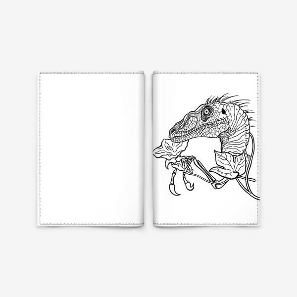 Обложка для паспорта «Велоцираптор»