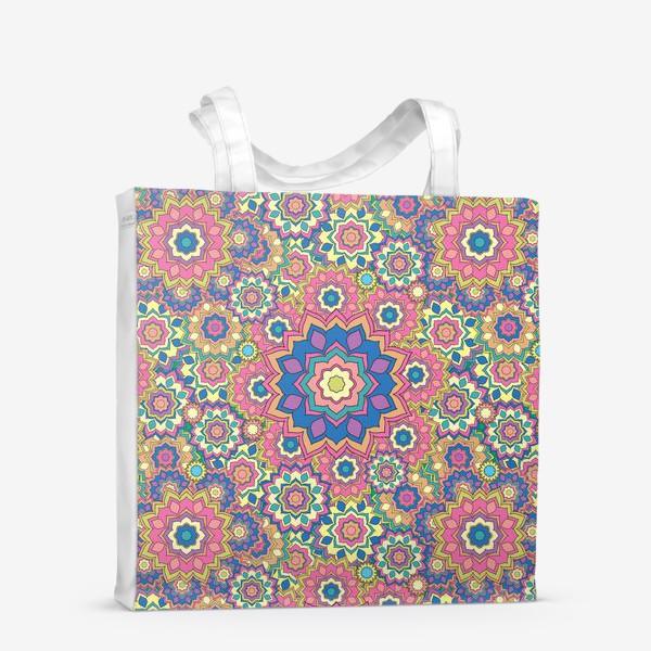 Сумка-шоппер «Цветочный орнамент»