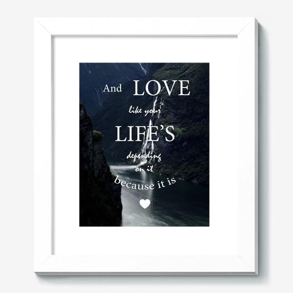 Картина «Screamworks. Love like your life's depending on it»
