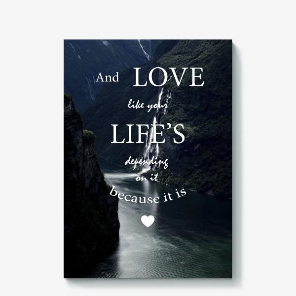 Холст «Screamworks. Love like your life's depending on it»