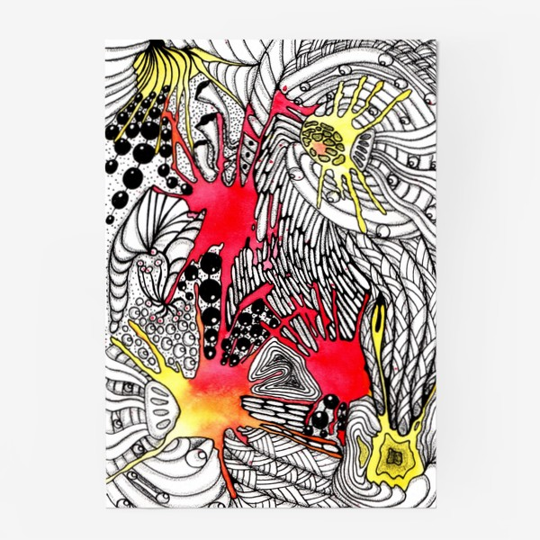 Постер «Космическая дудл-абстракция»